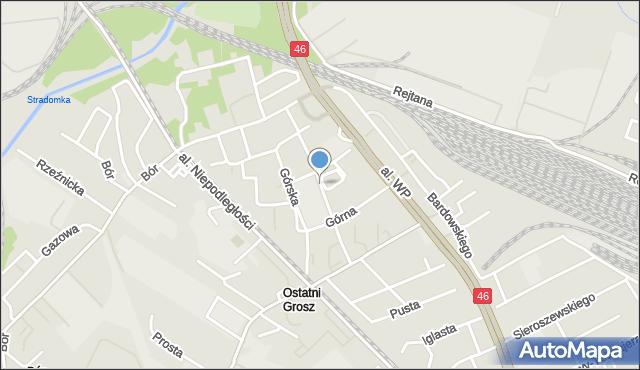Częstochowa, Szczytowa, mapa Częstochowy