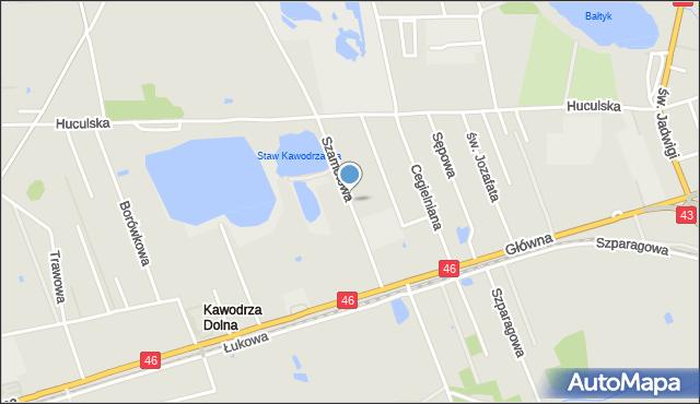 Częstochowa, Szamotowa, mapa Częstochowy