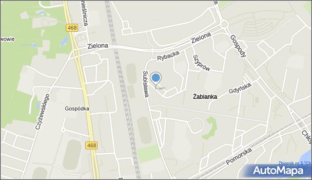 Gdańsk, Sztormowa, mapa Gdańska