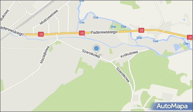 Grudziądz, Szarotkowa, mapa Grudziądza