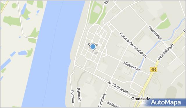 Grudziądz, Szewska, mapa Grudziądza