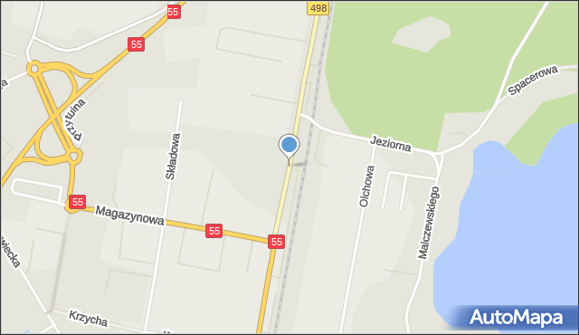 Grudziądz, Szosa Toruńska, mapa Grudziądza