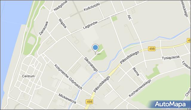 Grudziądz, Szpitalna, mapa Grudziądza