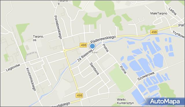 Grudziądz, Szychowskiego Juliana, mapa Grudziądza