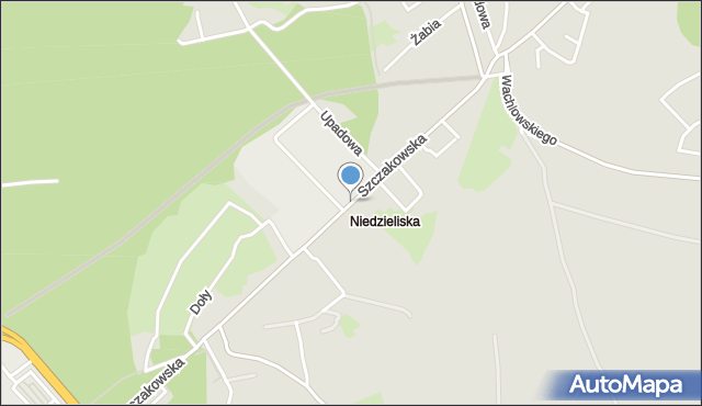 Jaworzno, Szczakowska, mapa Jaworzno
