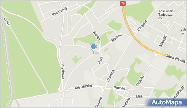 Jaworzno, Szelonka, mapa Jaworzno