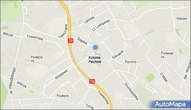 Jaworzno, Szybowa, mapa Jaworzno