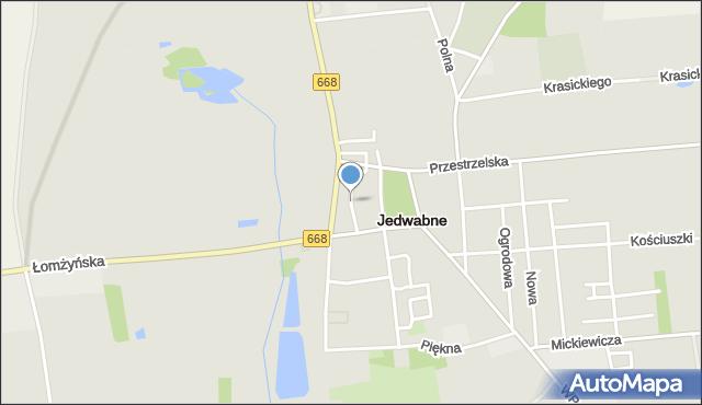 Jedwabne, Szkolna, mapa Jedwabne