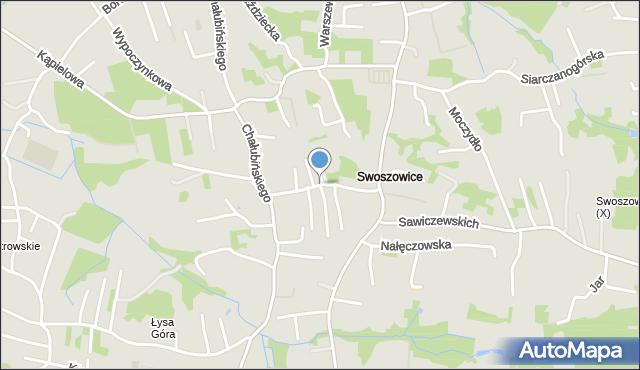 Kraków, Szybisko, mapa Krakowa