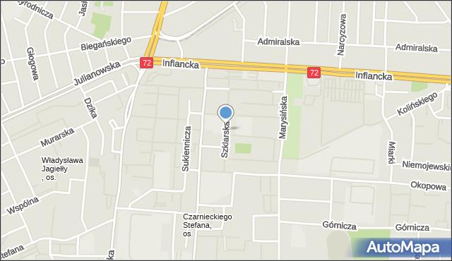 Łódź, Szklarska, mapa Łodzi