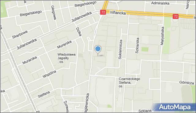 Łódź, Szewska, mapa Łodzi