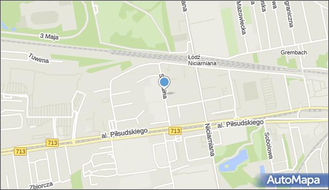 Łódź, Szpitalna, mapa Łodzi