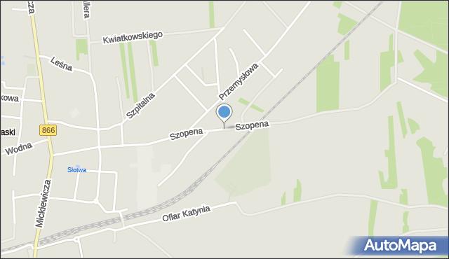 Lubaczów, Szopena Fryderyka, mapa Lubaczów