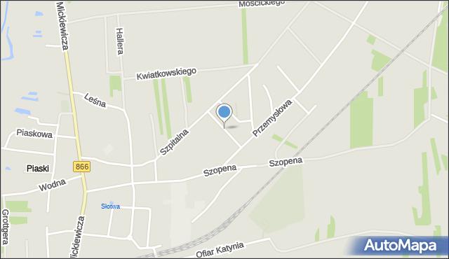 Lubaczów, Szymańskiego Henryka, dr., mapa Lubaczów