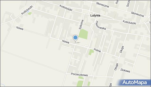 Lutynia gmina Miękinia, Szkolna, mapa Lutynia gmina Miękinia