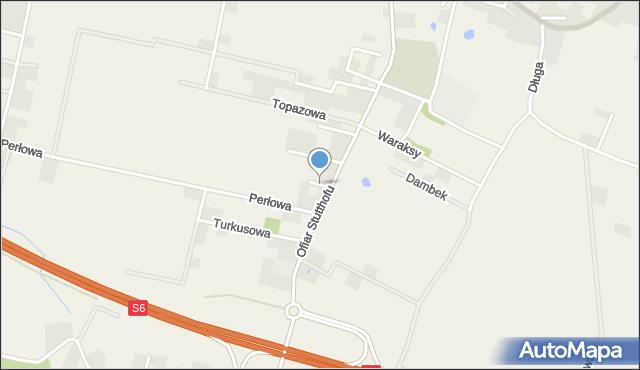 Luzino, Szafirowa, mapa Luzino