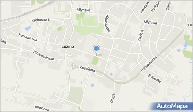 Luzino, Szkolna, mapa Luzino
