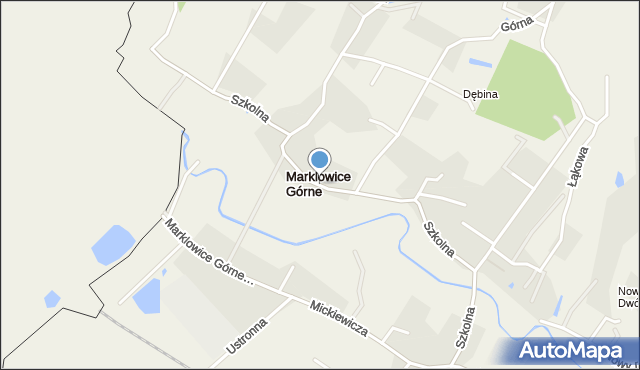 Marklowice Górne, Szkolna, mapa Marklowice Górne