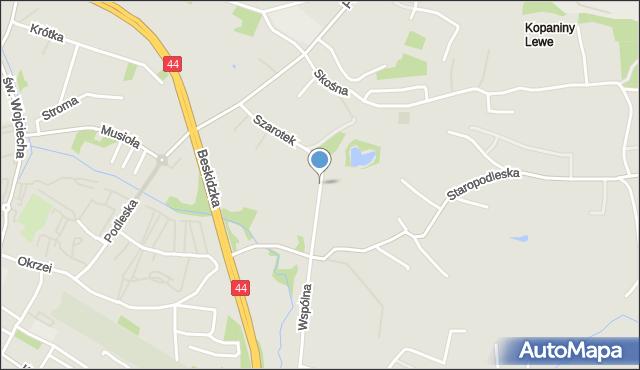 Mikołów, Szarotek, mapa Mikołów