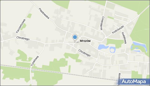 Mrozów, Szkolna, mapa Mrozów