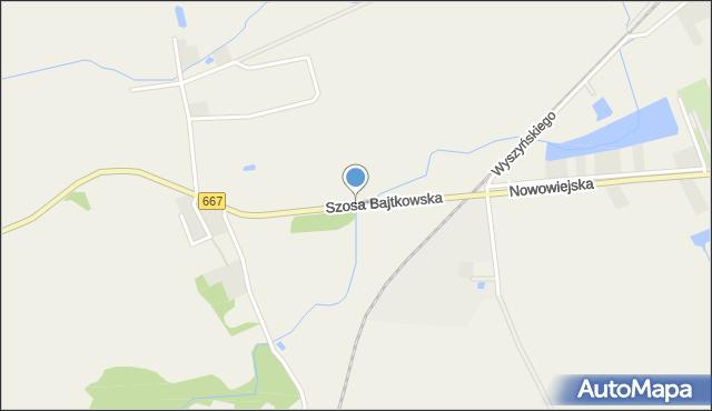 Nowa Wieś Ełcka, Szosa Bajtkowska, mapa Nowa Wieś Ełcka