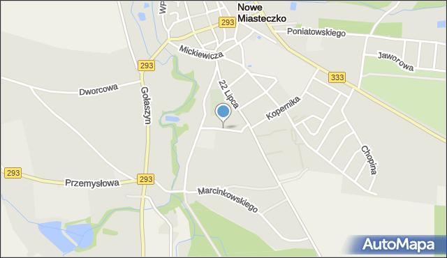 Nowe Miasteczko, Szkolna, mapa Nowe Miasteczko