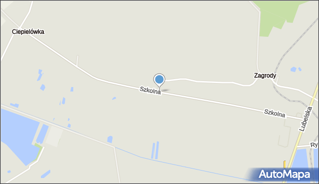 Opole Lubelskie, Szkolna, mapa Opole Lubelskie