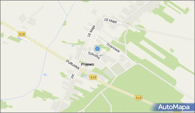 Pniewo gmina Zatory, Szkolna, mapa Pniewo gmina Zatory
