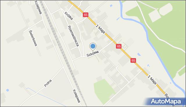 Prostki, Szkolna, mapa Prostki
