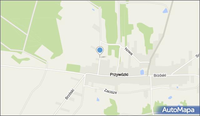 Przywózki, Szkolna, mapa Przywózki