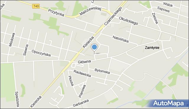 Radom, Szeroka, mapa Radomia