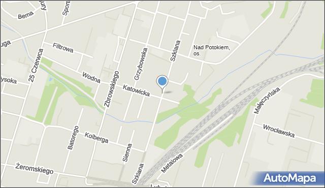 Radom, Szklana, mapa Radomia