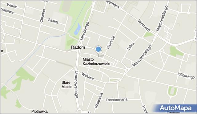 Radom, Szwarlikowska, mapa Radomia