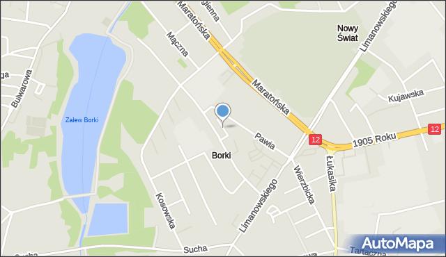 Radom, Szczygla, mapa Radomia