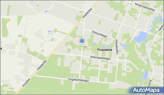 Radom, Szymanowskiego Karola, mapa Radomia