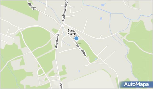 Ruda Śląska, Szczudlaka Wawrzyńca, mapa Rudy Śląskiej