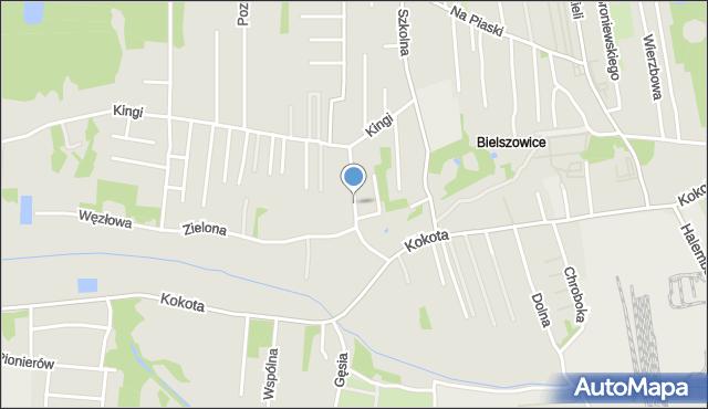 Ruda Śląska, Szymanowskiego Karola, mapa Rudy Śląskiej
