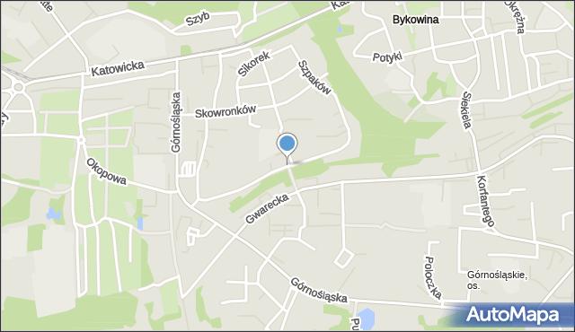 Ruda Śląska, Szpaków, mapa Rudy Śląskiej