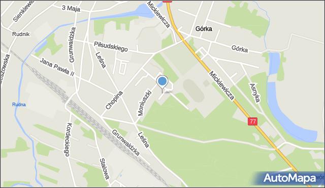 Rudnik nad Sanem, Szymanowskiego Karola, mapa Rudnik nad Sanem