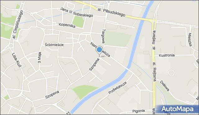 Rzeszów, Szpitalna, mapa Rzeszów