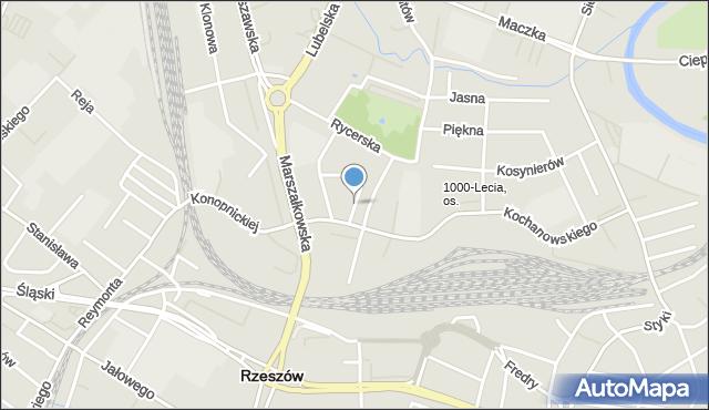 Rzeszów, Szwoleżerów, mapa Rzeszów