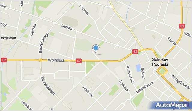 Sokołów Podlaski, Szopena, mapa Sokołów Podlaski