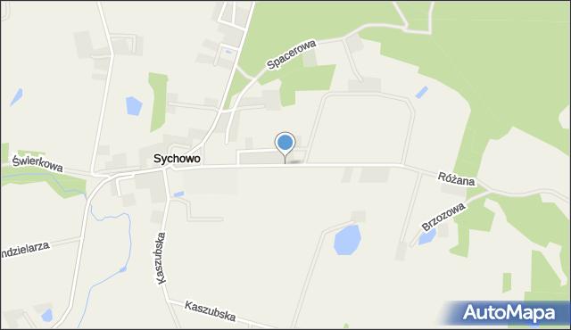 Sychowo, Szkolna, mapa Sychowo