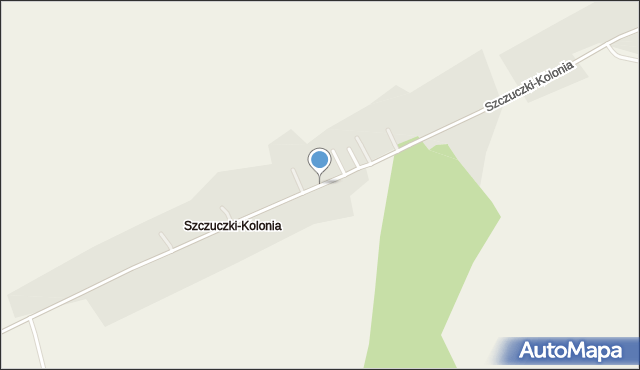 Szczuczki-Kolonia, Szczuczki-Kolonia, mapa Szczuczki-Kolonia