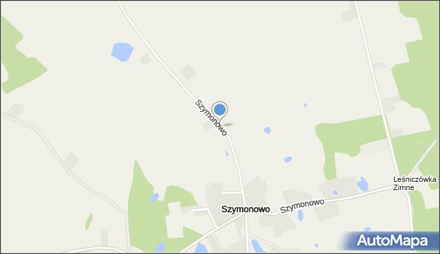 Szymonowo, Szymonowo, mapa Szymonowo