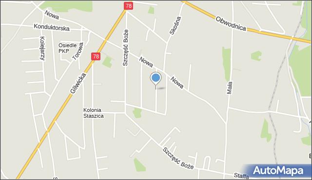 Tarnowskie Góry, Szarych Szeregów, mapa Tarnowskie Góry