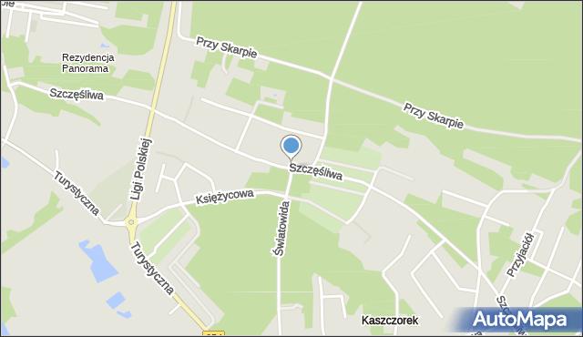 Toruń, Szczęśliwa, mapa Torunia