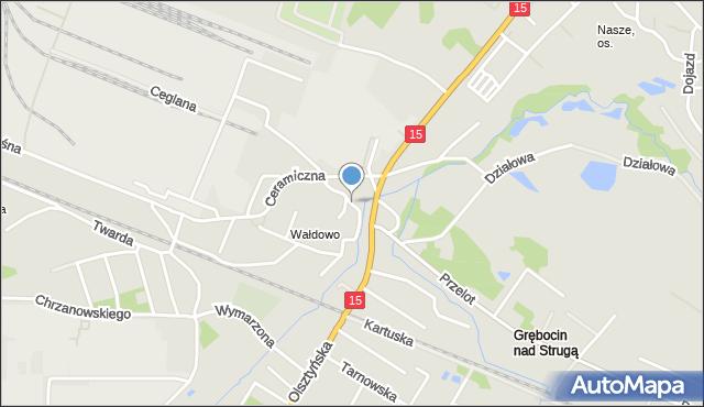 Toruń, Szczęsna, mapa Torunia