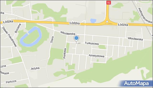 Toruń, Szmaragdowa, mapa Torunia