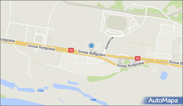 Toruń, Szosa Bydgoska, mapa Torunia
